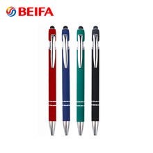 Custom Printing Multi Function Retractable Stylus Pen Promotional Ballpoint Pen With Logo