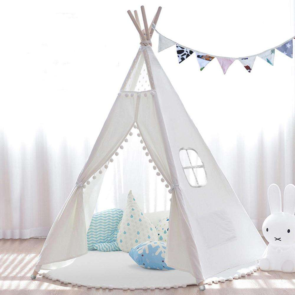 Kids Teepee Tent Children Tent Play House Indoor & Outdoor Foldable Toy Tent for Kids
