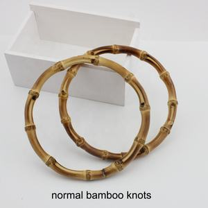 Nolvo World Natural bamboo 12cm 15cm 18cm Round Handle  Purse Real bamboo purse frame handles Wholesale