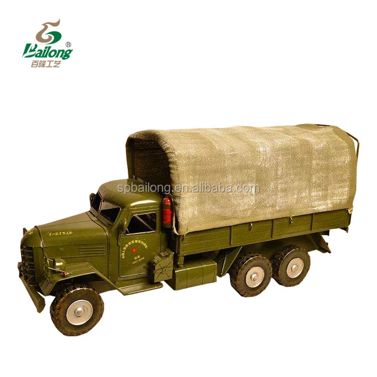 Fundido antigo do metal do vintage modelo de caminhão militar diecast toy vehicles
