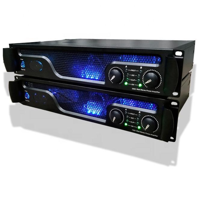 Powavesound Transformator Power Amplifier 2U Kelas H 800 W Suara Standar Power Amplifier