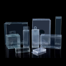 Gift packaging folding Clear PET PVC PP Transparent Plastic Box