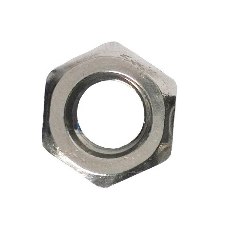 High strength hardware fasteners Hastelloy C276 EN2.4819 UNS N10276 nickel thin hexagon nuts