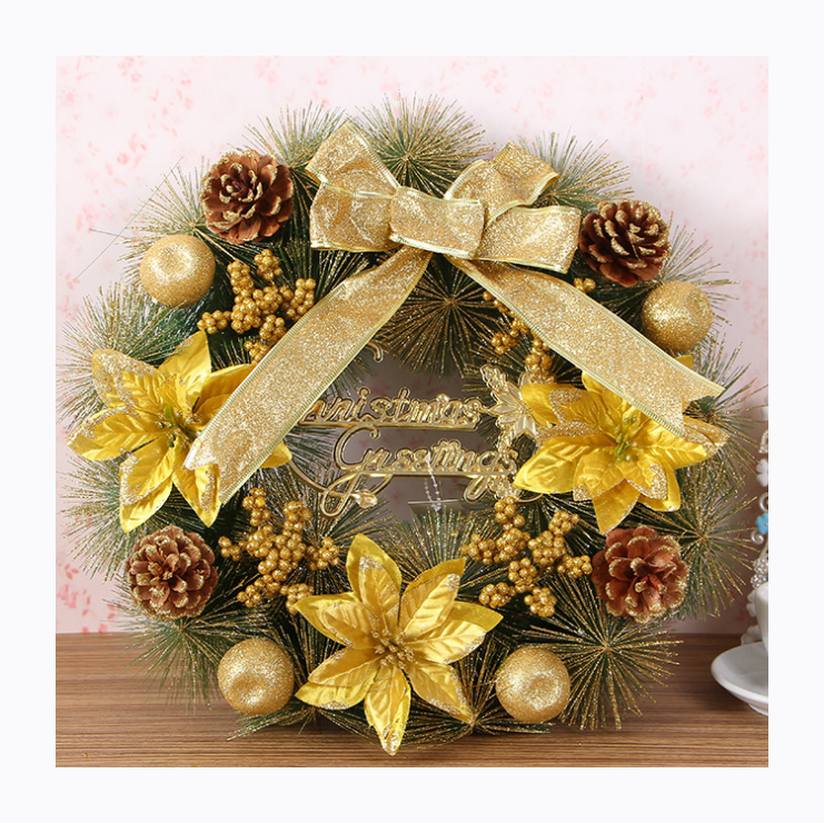 The new 2019 Korean color Modelling of the wreath Christmas decorations Handmade Christmas gifts