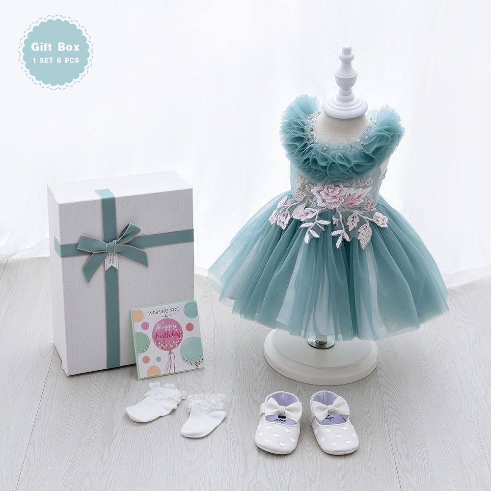 WholesaleとCompetitive Prices Baby Clothing New Born Baby 0-2 Years Boutique Baby Girl DressesとGift BoxためParty