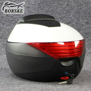 Sturdy PP ABS Motorcycle Top Luggage Delivery Rear Box Motorbike Accessories Back Storage Scooter Tail Box