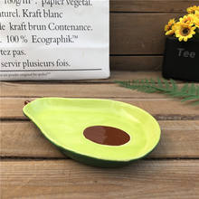 Factory direct wholesale avocado shape ceramic fruit plate dessert plate