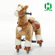 HI CE high quality mechanical riding horse brown and white leg ride horse toy wheels for children
