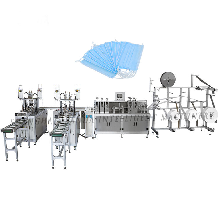 High Speed Nonwoven Disposable Protective Face Masks Production Machine
