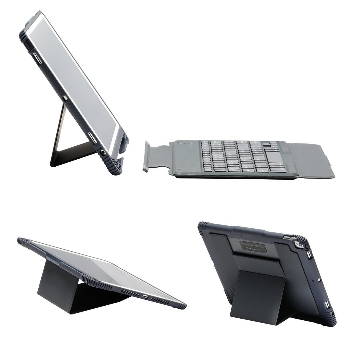 High quality Universal 10.5 10.2 inch wireless keyboard tablet cover shockproof rugged case