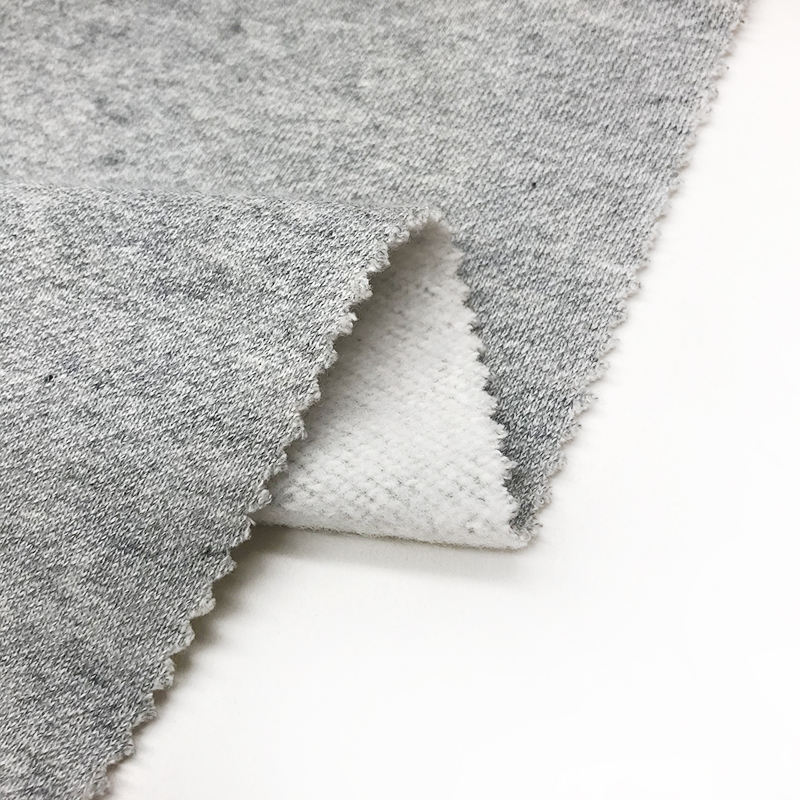 Shaoxing Textile Manufacturer Poly Polyester Cotton Fleece Knit Fabric Price For Making Hoodie Clothes