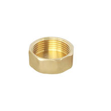 Brass stop compression screw end nut  pipe plumbing fitting