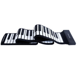 Dropshipping Hand roll piano 88 key thickening soft keyboard folding simulation adult practice portable keyboard folding piano