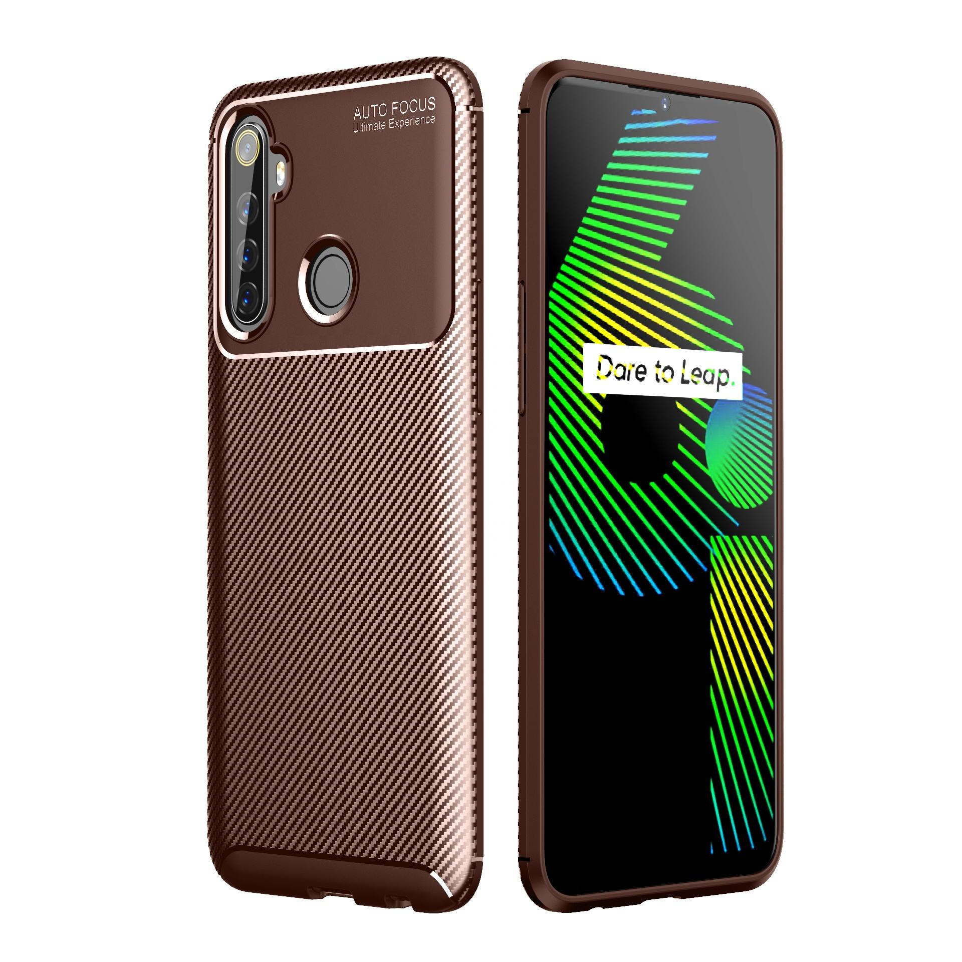 Mobile Phone Accessories Carbon Fiber Shockproof Cheap TPU Case Cover for oppo realme 6i