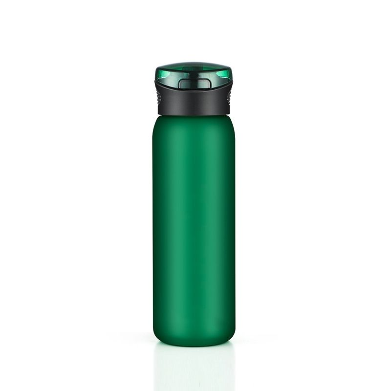 Food Grade Custom Logo 600ml Plastic Hiking Water Bottle Drinking Water Bottle With Straw