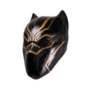 Molezu Marvel Civil War Top Quality Black Panther Mask Captain America Hero Helmet Latex Party Movie Mask