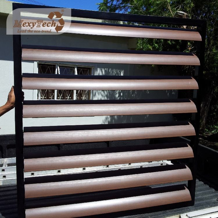 wpc wood plastic composite exterior wall decorative louver panels in china 150*38mm