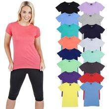 Soft Cotton Plain Designer T shirts For Women