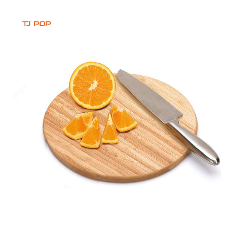 round shape food bamboo cutting board chopping block