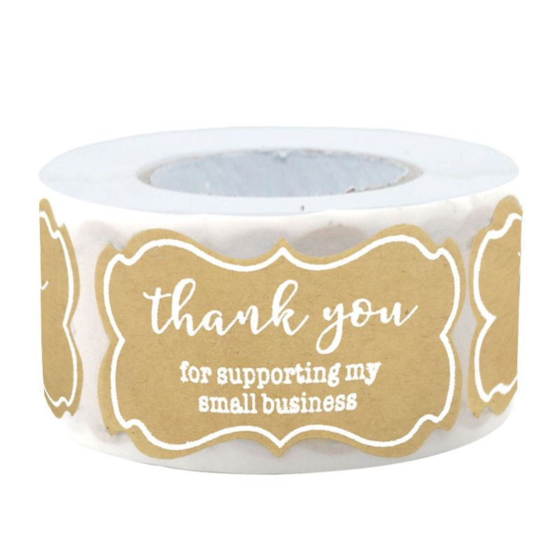 Custom printing waterproof adhesive matte thank you for supporting my small business sticker