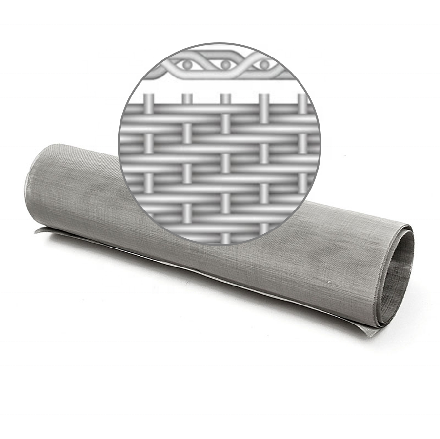 Ultra-fine openings stainless steel wire twill dutch weaving filter mesh 5 micron