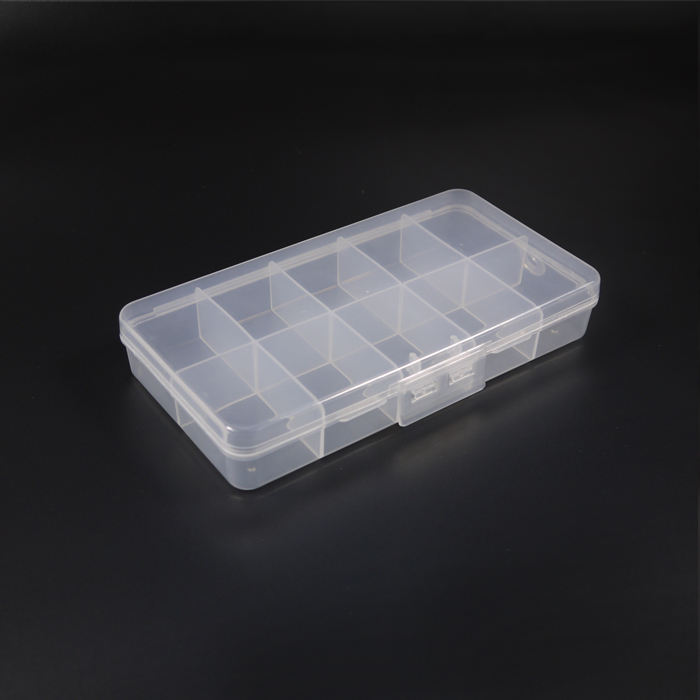 Double Row Transparent Plastic Box Screw Mechanical Parts Large Storage Box Fishing Storage Box With Lid
