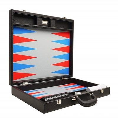 Checker Enntertainment Game Wooden 15inch Travel Leather Backgammon Chess Board Game Set