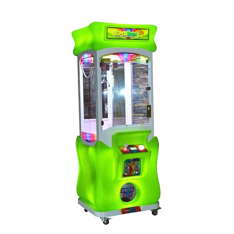 Threeplus coin operated toy catcher superbox machine claw crane joystick arcade game for sale