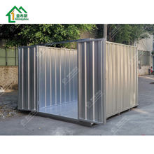 Low cost fast assembly dismantled prefab modern mobile foldable steel metal collapsible storage room