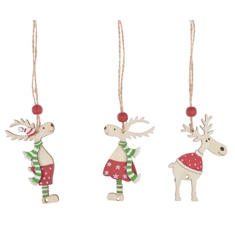 Toptan ürünler çin Noel Ağ<span class=keywords><strong>ac</strong></span>ı asılı dekorlar Elk ahşap Ren Geyiği Süslemeleri Ev Festivali tatil <span class=keywords><strong>parti</strong></span>