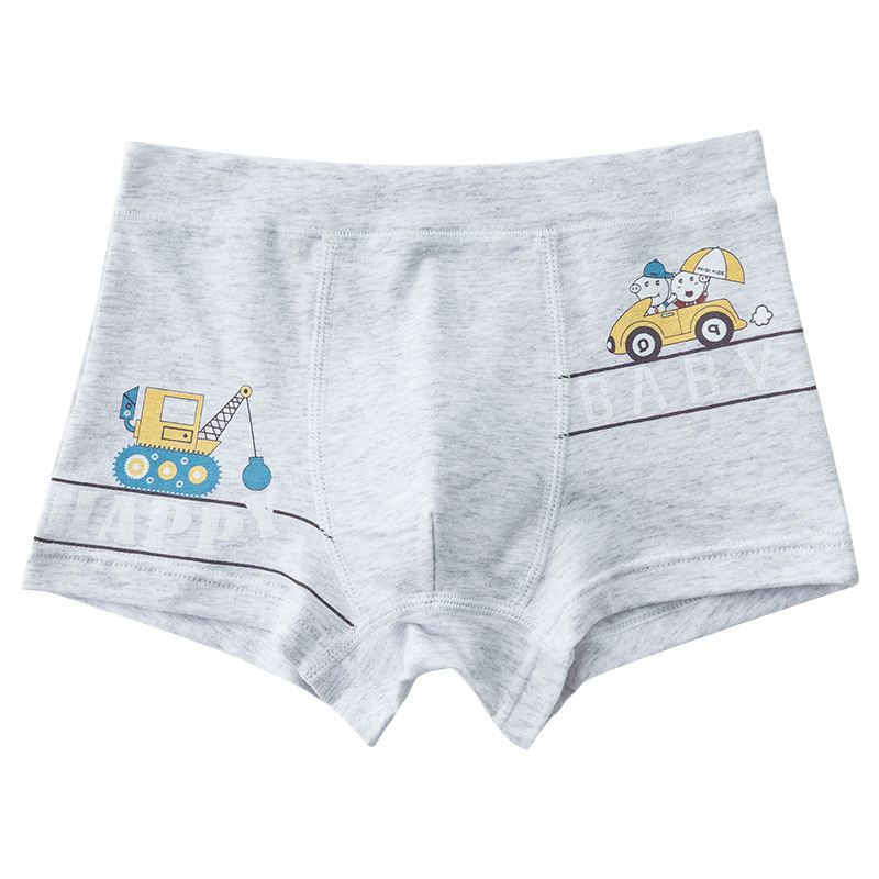 Promotion Low MOQ factory price lovely car print hot underwear for boy kid 100% cotton panties
