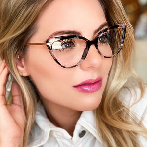 Hot Selling 2019 New Fashion Luxury Ladies Spectacle Eyeglasses Frames TR90 Women Cat Eye Glasses