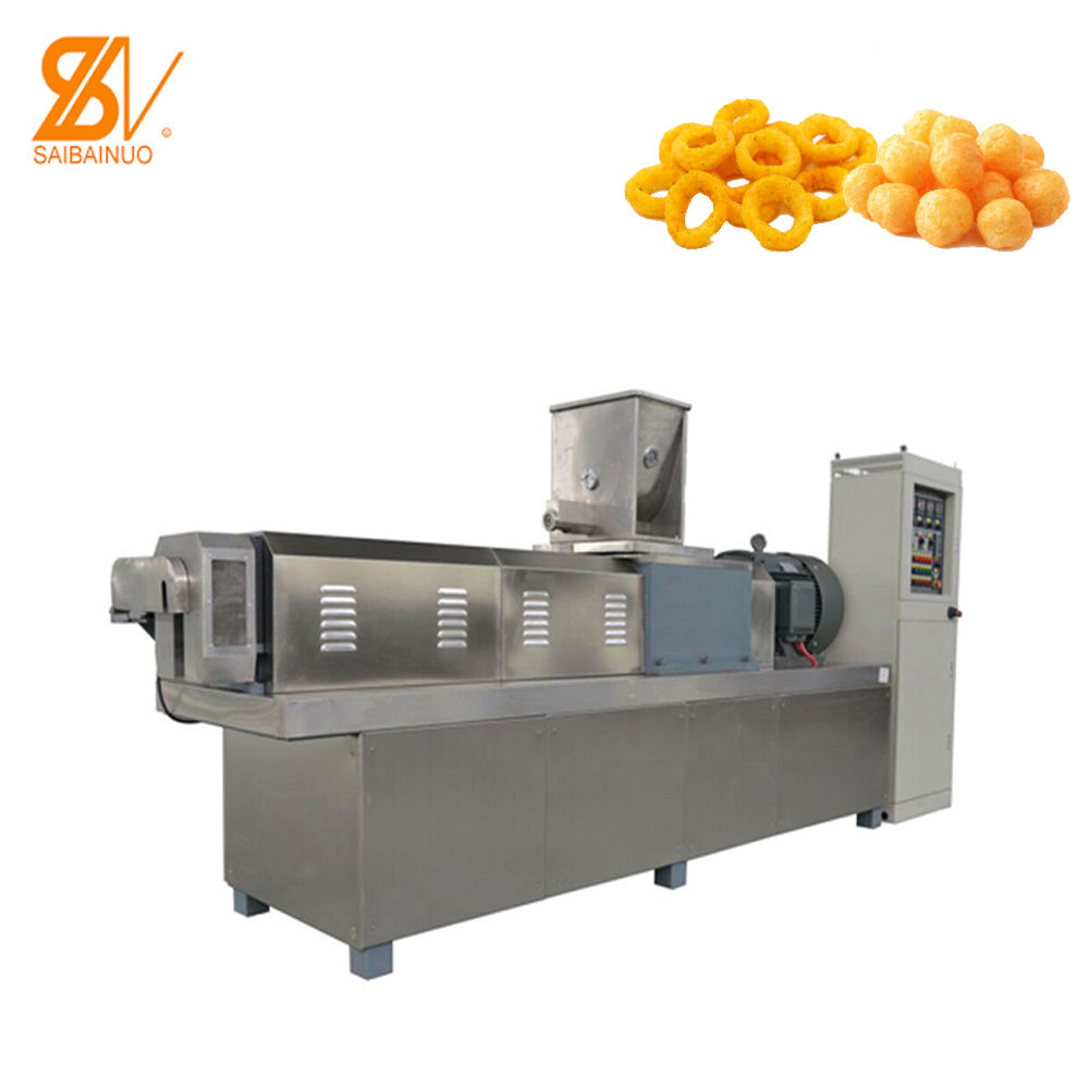 Automatic Corn Puffed snack Food Machine Grain Puffing Machinery Production Line
