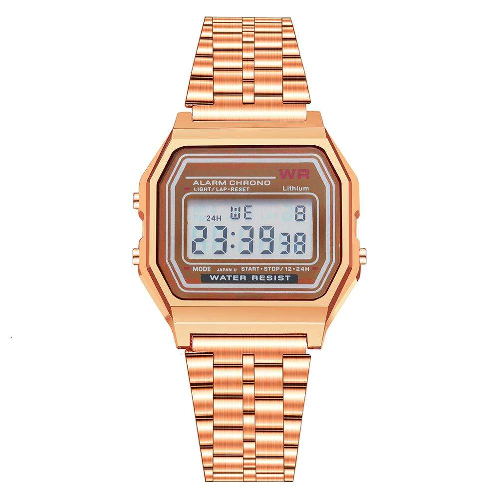 Hot Selling Alarm Stainless Steel Digital Watch Calendar Stopwatch Cheap Led Wrist Watch