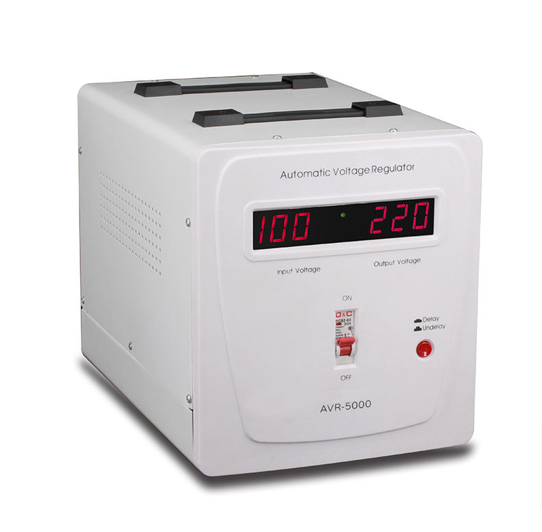 5000Watt 5kva Single Phase Ac Power Otomatis Stabilizer Voltage Regulator untuk Rumah