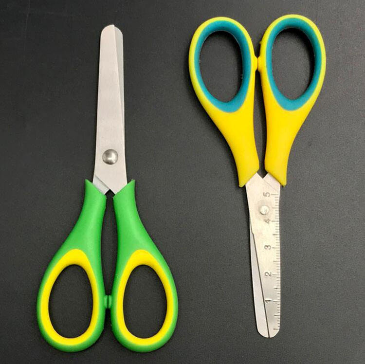 Soft Handle Student Scissors School Smart Student Round-top Scissors