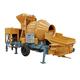 Construction use portable concrete mixer with pump