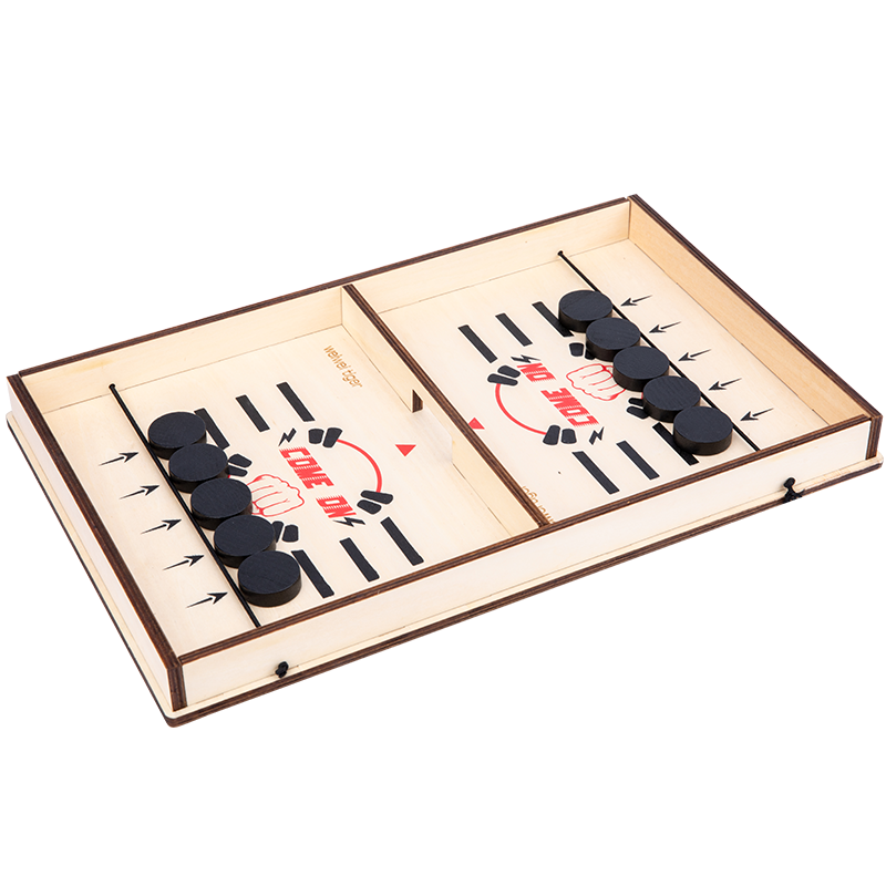 Fast Sling Puck Game Wooden, Portable Board Games, Interactive parent-child chess