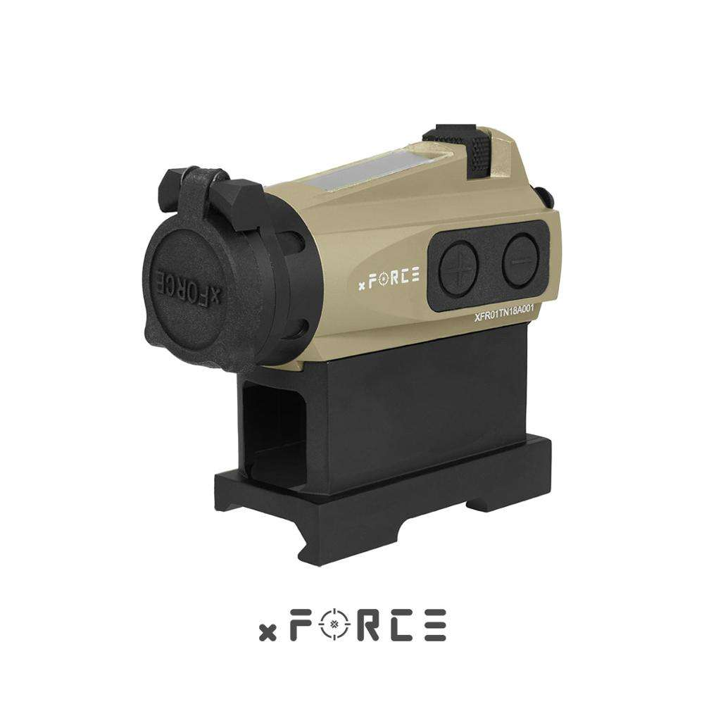 Xforce Xtsp Solar Red Dot Sight Met Qd Mount & Killflash / Kill Flash (Tan)