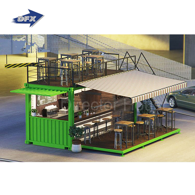 Prefab House Modular 20ft 40ft Shipping Fast Food Container Restaurant Bar For Sale