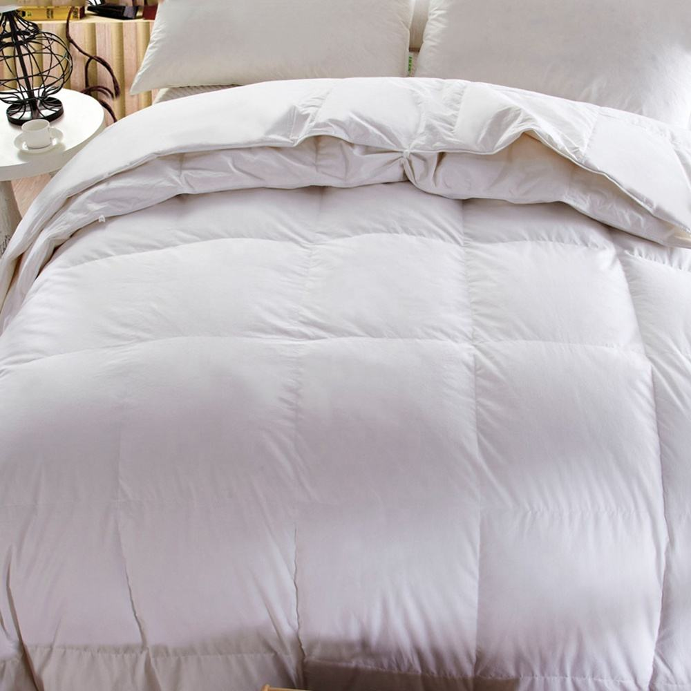All Seasons Available White Goose/Duck Down Fillled Pure 100% Cotton Hotel Hungarian Feather Down Duvet Quilt Comforter Blanket