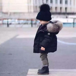 New Winter Jacket Baby Kids Outerwear Warm Thick Fur Hooded Coat