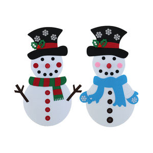 Hot DIY Felt Christmas Snowman Game with 44 Pieces of Ornaments for DIY Fun and Christmas Decorations