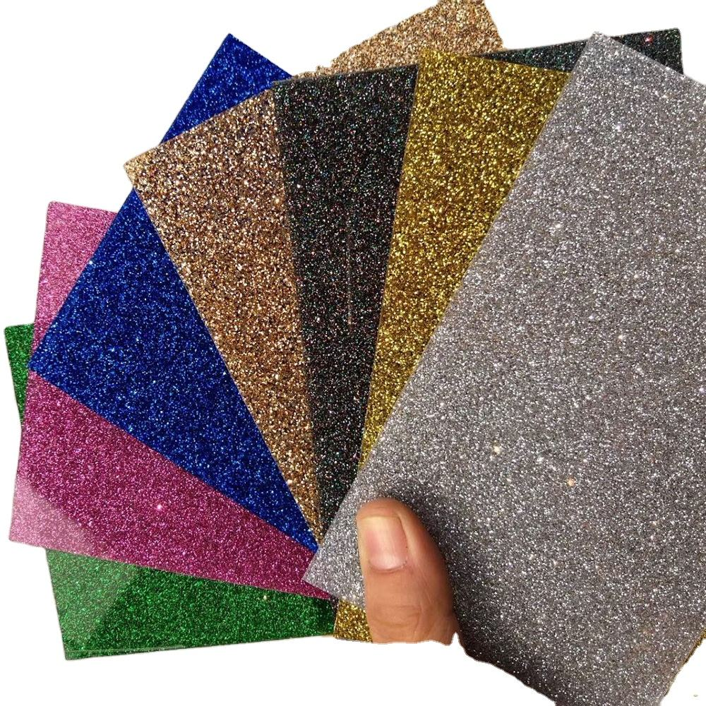 Waterproof recyclable acrylic colorful glitter 2mm plastic sheet