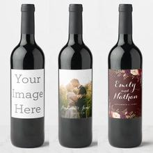 Customized Personalized Birthday Party  Baptism  Anniversary Wedding Wine Bottle Labels Decoration sticker label printing