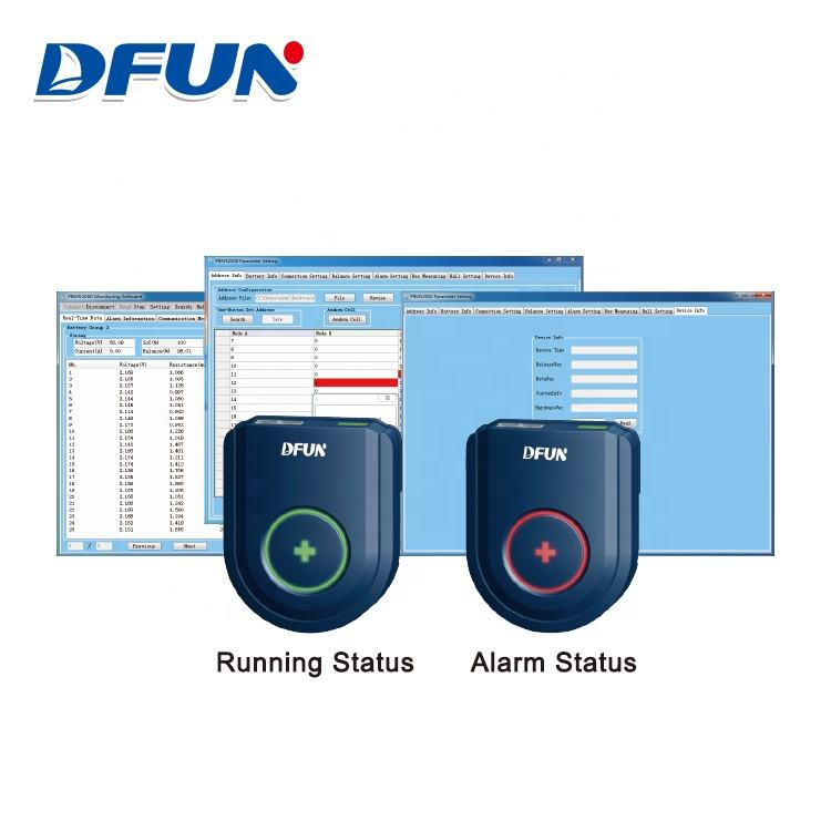 Dfun Monitoring Spanning Stroom Sensor Lood-zuur Batterij Monitoring Module Ontlading <span class=keywords><strong>Tester</strong></span>