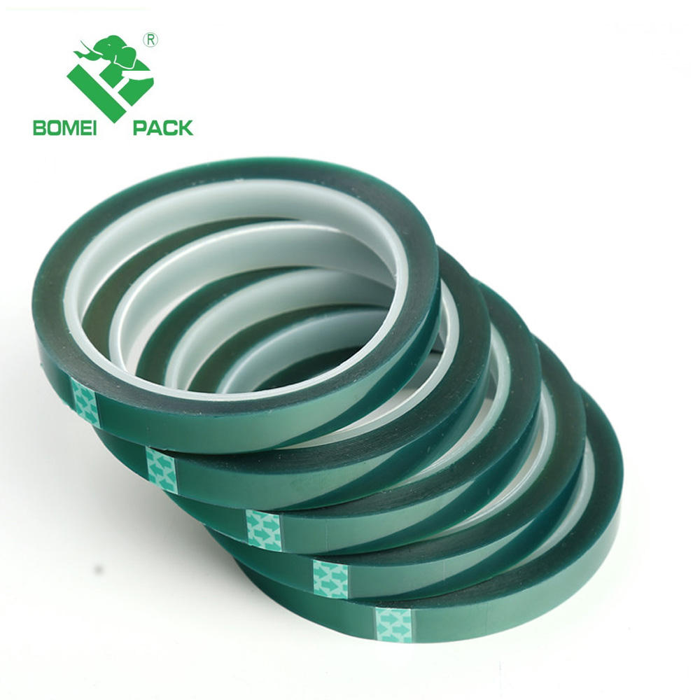 200 degree high temperature resistant Green silicone adhesive pet tape