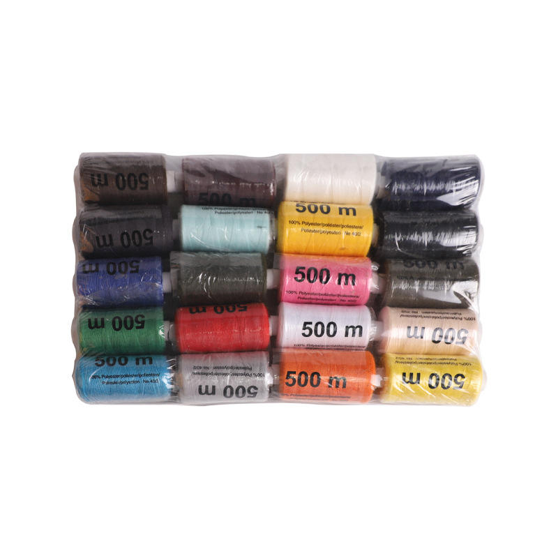 12 colors Small Spool Polyester Sewing Thread 40/2 40s/2 40/2 500yards for home use