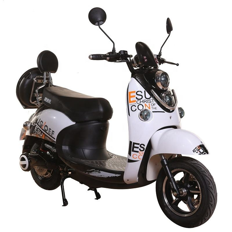 European warehouse china factory 2 wheel scooter electrico vespa 60V 72v 1200w 20ah battery adult Electric motorcycle