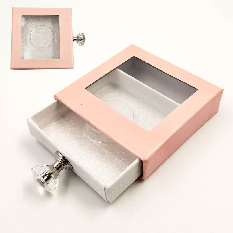 Fast delivery makeup Multicolor pink marble eyelash box packaging empty eyelash box container